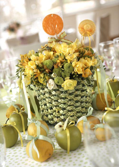 Λουλούδια και φρούτα
